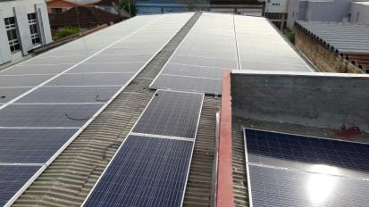 Sistema de energia solar instalado no município de Tapera/RS