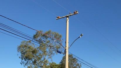 Iluminação no Distrito Industrial de Santa Maria/RS